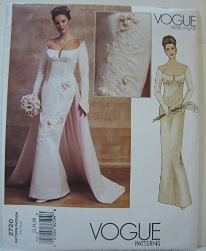 Vogue Bridal Original Pattern 2720 - Misses' Petite Dress (Size 12 14 16)