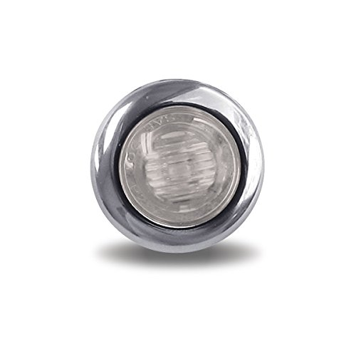 Mini Oval Button Clear Amber LED - 3 Wire