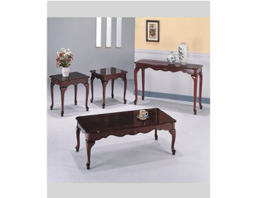(HP Queen Anne Cherry Cocktail Table Set with 3-pc Pack #AD 4141a)