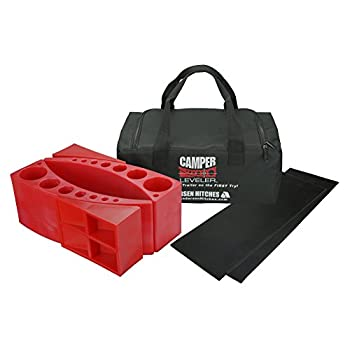 Image of Levelers Andersen 2-Pack Camper Leveler Plus 2 Rubber Mats in Sturdy Carry Bag with Double Handles