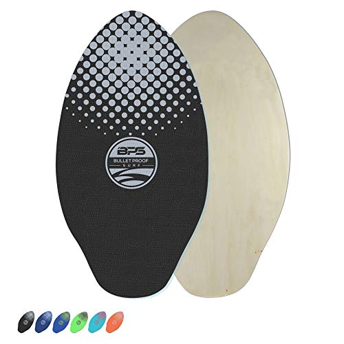 """BPS 35"""" Gator SKIMboards - Featured with Nose Rocker for More maneuverability Built with EVA Foam for Excellent Grip When Wet - Lightweight SKIMBOARDS (Black Pad)"""