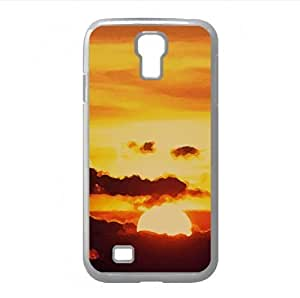 Sunset Above Clouds Watercolor style Cover Samsung Galaxy S4 I9500 Case (Sun & Sky Watercolor style Cover Samsung Galaxy S4 I9500 Case)