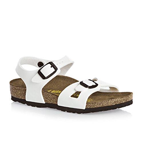 Birkenstock Rio - Sandalias de vestir para niñas Blanco