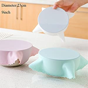 Food Grade Silicone Wrap Food Fresh Keeping Saran Lid High Stretch Seal Vacuum Container Cover Storage Lids
