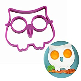 Owl Egg Shaper Silicone Mold Breakfast Eggs Mold Breakfast Silicone Owl Fried Egg Mold Pancake Egg Rings 58 Material:100% food grade silicone Color: Random color if no special state Withstands temperatures of -20 ° F to 450 ° F (-30 ° C to 230 - ° C).