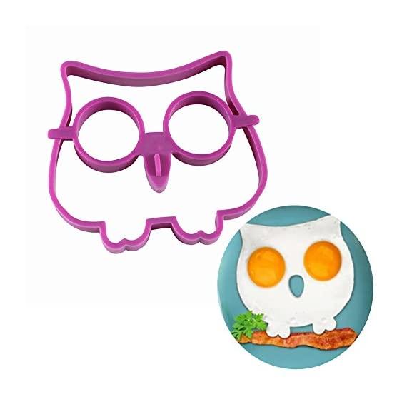 Owl Egg Shaper Silicone Mold Breakfast Eggs Mold Breakfast Silicone Owl Fried Egg Mold Pancake Egg Rings 1 Material:100% food grade silicone Color: Random color if no special state Withstands temperatures of -20 ° F to 450 ° F (-30 ° C to 230 - ° C).