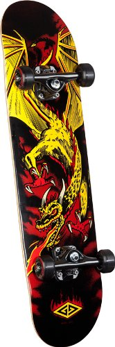 Skate Dragon - Powell Golden Dragon Flying Dragon 2 Complete Skateboard