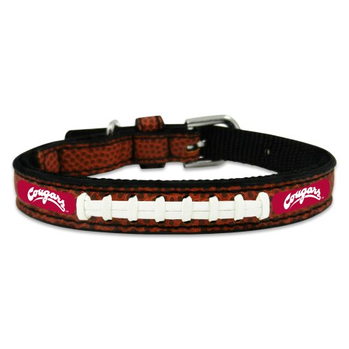 NCAA Washington State Cougars Classic Leather Football Collar, Toy (Leather Cougars College)