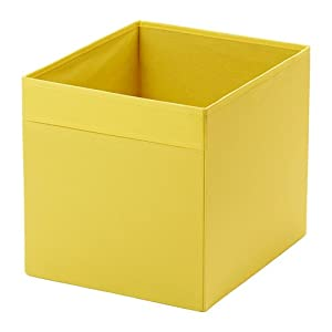 ikea drona storage box yellow for expedit shelving unit home kitchen. Black Bedroom Furniture Sets. Home Design Ideas