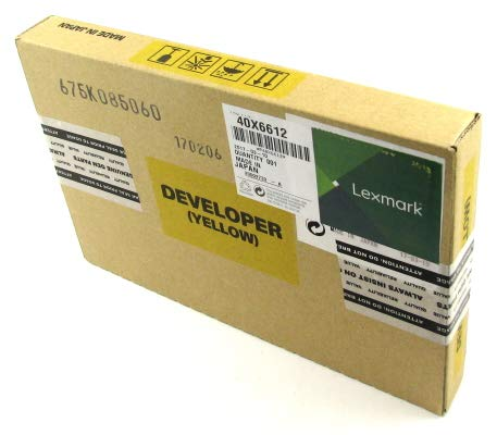 40X6612 QSP Works with Lexmark: Carrier Y Developer Yellow