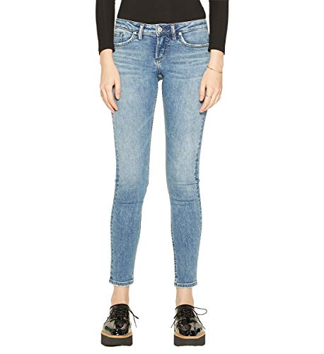 Silver Jeans Co. Women's Tuesday Low Rise Skinny Jeans, Vintage Medium, 32x29 (Womens Silver Tuesday Jeans)