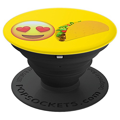 Emojicon Heart Love Tacos Phone Holder Grip - PopSockets Grip and Stand for Phones and Tablets -