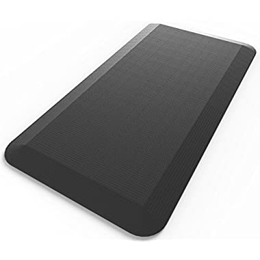 Royal Anti-Fatigue Comfort Mat - 20 in x 39 in- Multi Surface All-Purpose Luxurious Comfort - For Kitchen, Bathroom or Workstations - Black