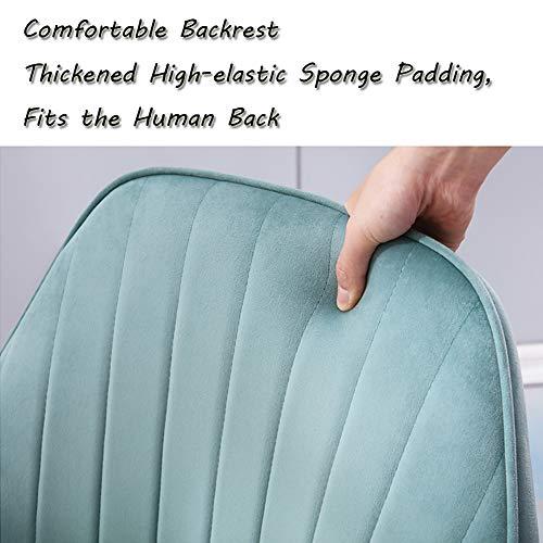 KOOU nordiska matstolar för hemmet, mjukt flanelltyg fåtölj metallben vardagsrum stolar bäst för sovrum vardagsrum kök matbord och stol, ljusgrön