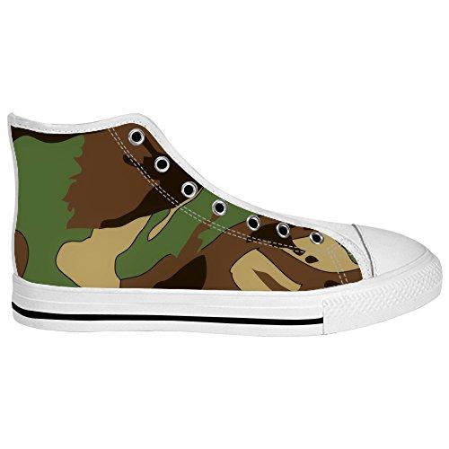 Custom Camouflage Mens Canvas shoes Schuhe Lace-up High-top Sneakers Segeltuchschuhe Leinwand-Schuh-Turnschuhe A