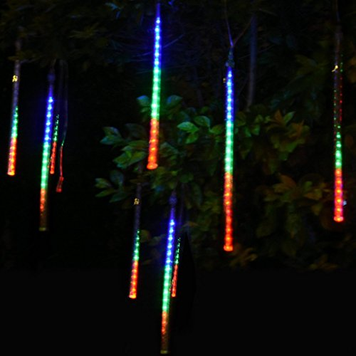 often 8 x 20cm meteor shower rain led tube string christmas xmas light