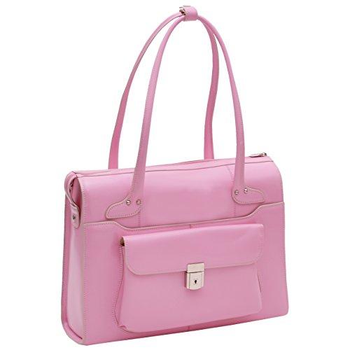 McKleinUSA WENONAH 96669 Pink Leather Ladies' (Pink Italian Briefcase)