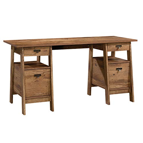 Sauder 424127 Trestle Executive Trestle Desk, L: 59.06