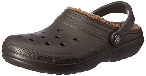 Fur Lining - Crocs Unisex Classic Lined Clog,Espresso/Walnut,10 US Men / 12 US Women