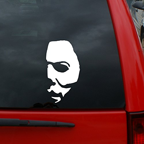"""Halloween - Michael Myer Mask - 5"""" x 2.7"""" Vinyl Decal Window Sticker for Cars, Trucks, Windows, Walls, Laptops, and (Michael Myers With No Mask)"""