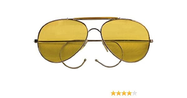 Amazon.com  10200 Air Force Aviator Style Sunglasses (Yellow Tint)  Shoes d002884130