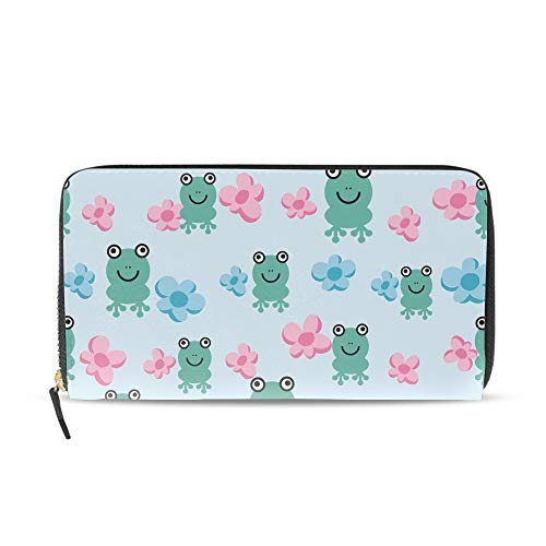 Cute Pond Frog PU Women Clutch Bag Long Wallet Purse