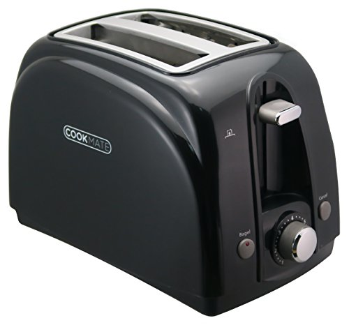 Cookmate 2-Slice Toaster, 7 Temperature Levels, Sleek Unibody Frame - Quick Bagel Button - Multiple Colors Available - Classic Performance And Power - 750W ETL-Listed, By Unity (Black) by Unity-Frankford