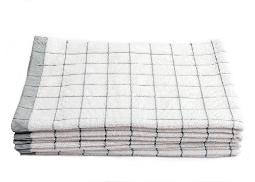 Fabresh Super Absorbent, Quick-Drying Kitchen Dish Towels (Set of 5) | Premium Microfiber & Cotton Blend Towels for Cleaning, Scrubbing, Washing, and Drying | 23 X 16 Green