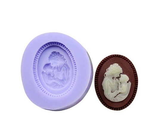 Mom and Baby Silicone Resin Clay Molds Handmade Resin Mold Polymer Clay Mold