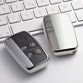 Key Cover Case for Range Rover Smart Remote Fob 5 Button Sport Evoque Vogue LR4 iscovery 4 Land Rover Shell Black