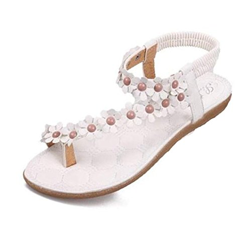 Rawdah - Zapatillas de estar por casa de Caucho para mujer blanco