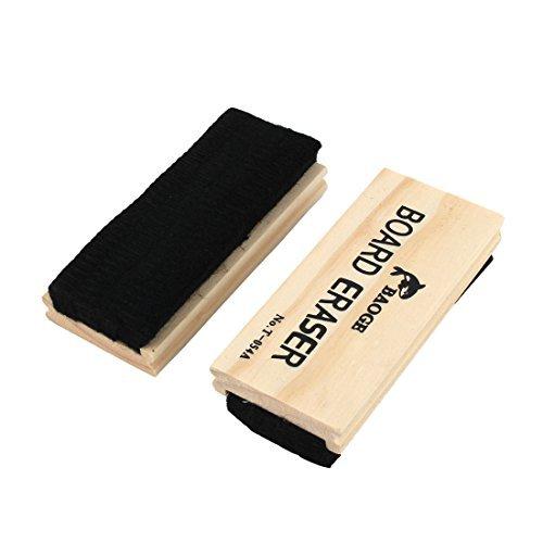 eDealMax Legno Ufficio Scolastico Shell Lavagna Cleaner Eraser del Consiglio 5 pollici Lungo 2pcs (5' Chalkboard Eraser)