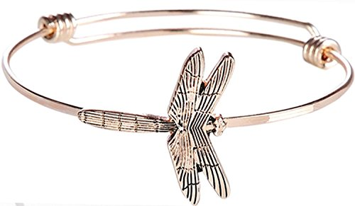 Giftcraft Thoughts to Share Expandable Bracelet Dragonfly Joy Rose Gold -