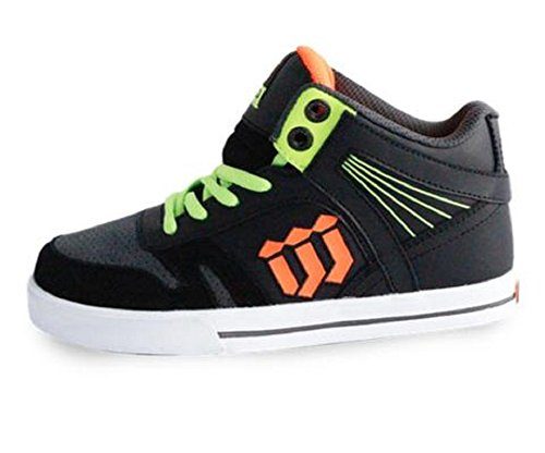 Skateboarding Boys Shoe (World Industries Boy's Guard Skateboarding Shoe (2 M US Little Kid, Black/Grey))
