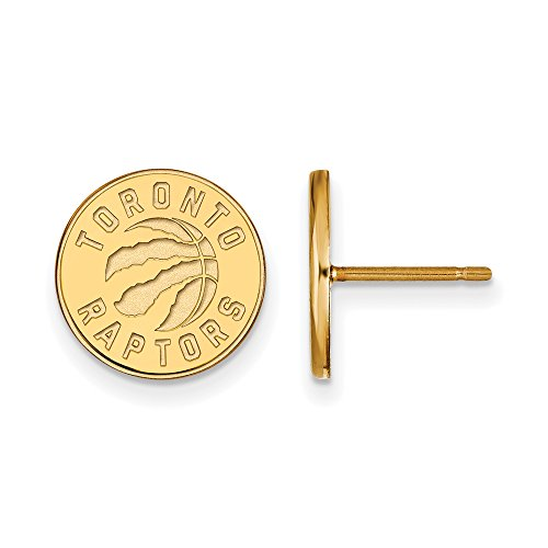 NBA Toronto Raptors Post Earrings in 10K Yellow Gold by LogoArt