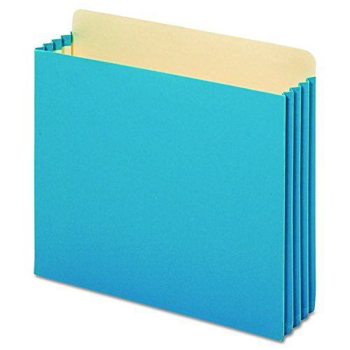 Pendaflex FC1524PBLU File Cabinet Pockets, Straight Cut, 1 Pocket, Letter, Blue (Box of 10)