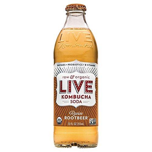 LIVE SODA Live Kombucha, Revive Rootbeer, 12 Ounce (Pack of 08) (Live Soda Kombucha)