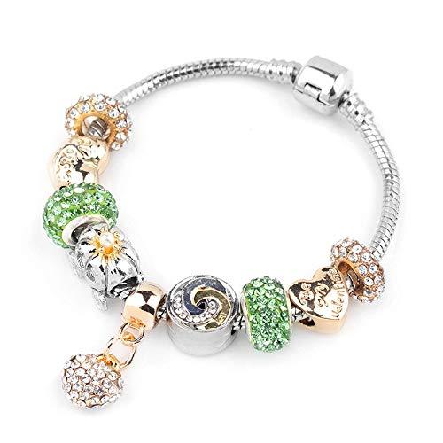 Beaded Pumpkin - KAIISH Bracelet Silver Snake Chain Bracelets & Bangles Pumpkin Beaded Jewelry Bracelet Gift