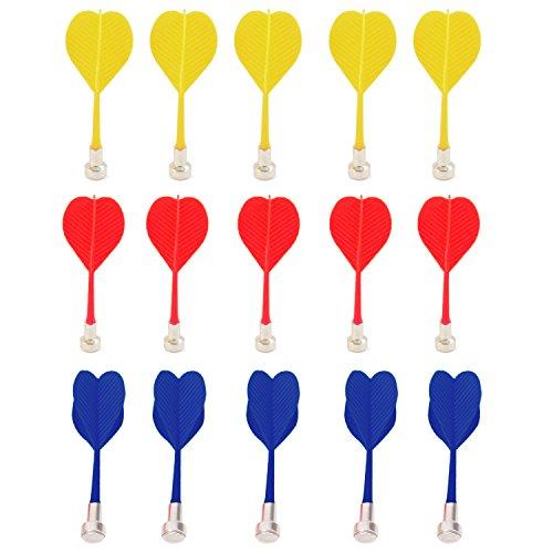 ゴシレ [Gosear] 15個交換安全磁気マグネットダーツターゲットゲームおもちゃ赤 + 黄 + 青