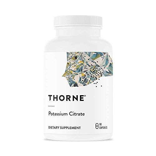 Thorne Research - Potassium Citrate - Highly-Absorbable Potassium Supplement for Kidney, Heart, and Skeletal Support - 90 -