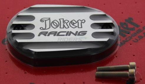 Joker MacHine Front Master Cylinder Cover Joker Racing Blk Anodized H-D XL 06-12
