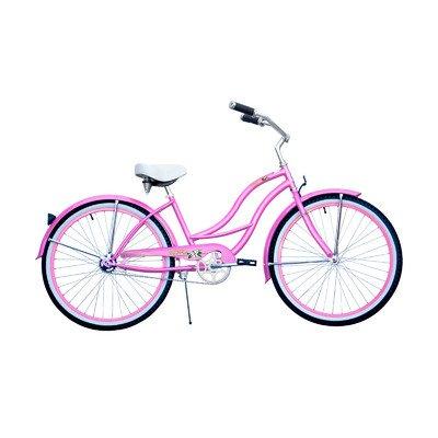 "Micargi Tahiti-F-Pk Women's Cruiser Bikes, 26"", Pink"