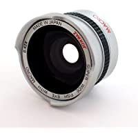 Zykkor 0.42x 37mm Titanium Super Wide Angle Fisheye Lens with Macro - Silver - Made in Japan