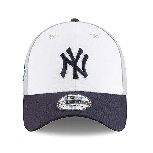New Era New York Yankees 2018 MLB All-Star Game 39THIRTY Flex Hat - White, Navy (Med/Large)