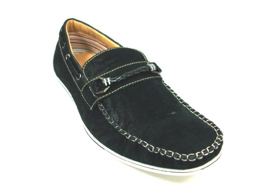 Mens 30218 Suedette Mocassins Slip On Loafer Casual Shoes Black ANof4uH2s2