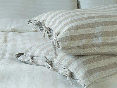 Natural LinenMe Linen Lucas Pillow Case 20 by 36-Inch