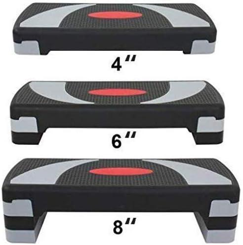 HomGarden 31″ Adjustable Workout Aerobic Stepper in Fitness & Exercise Step Platform Trainer Stepper w/Risers Adjust 4″ – 6″ – 8″ (Set of 1)