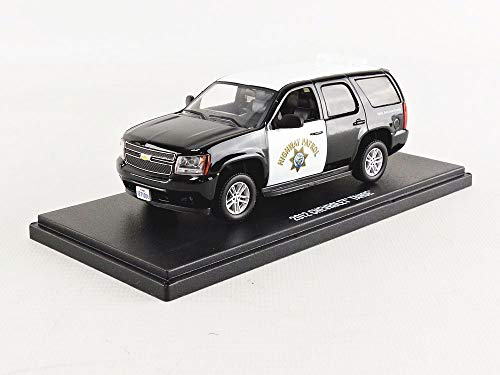 1:43 2012 Chevrolet Tahoe - California Highway Patrol, Authentic Decoration, Real Rubber Tires, Metal Chassis, True-to-Scale Detail, Limited Edition (86098)
