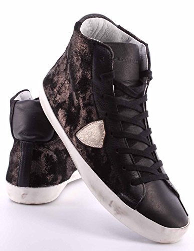 Zapatos Sneakers Hombre PHILIPPE MODEL Paris Classic High Mixage Black Gold ITA