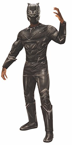 (Rubie's Men's Captain America: Civil War Deluxe Muscle Chest Black Panther Costume, X-Large)